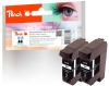 313026 - Peach Twin Pack Ink Cartridges black, compatible with No. 15, C6615D HP