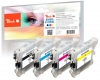 Multipack Peach, compatible avec  Brother LC-1100, LC-980 bk, c, m, y